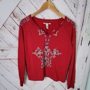 Lucky Brand Embroided Long Sleeve L